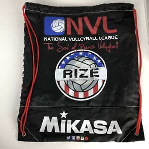 """Mikasa RIZE Sinch Volleyball NVL String Bag Backpack 17"""" x 14"""""""