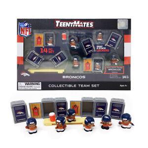 NFL TeenyMates Team Set Denver Broncos 14 Piece Set, New In Box