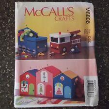 McCalls M6806 Toy Storage Box House Store Fire Engine Train Uncut