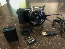 Sony A5000 Mirrorless Camera w16-50mm Lens Genuine SONY Battery & 16 GB SD Card