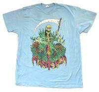 Mastodon Grim Reaper Blue T Shirt New Official Band Merch Soft