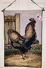 Henry & Friends Rooster Tapestry Wall Hanging ~ Artist, David Carter Brown