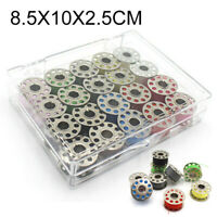 Metal Bobbins With 20 colors Sewing Machine Spools Yarn Sewing Spool Set w/Box
