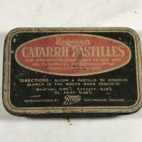 Vintage REGESAN CATARRH PASTILLES Advertising Tin Nottingham England