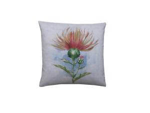 Handmade scottish highlands Thistle digital Print water colour cushion cover