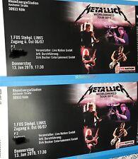 2x Tickets Metallica Köln 1. FOS Bereich Links 13.06.2019