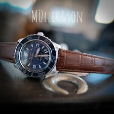 "Müller&Son Watch ""Blue Mod 1"" made from Seiko SNZH53 Fifty Five Fathoms + Strap"