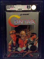 1988 KONAMI NES BLACK NINTENDO SEAL CONTRA VGA 85 NM+ RARE GRADED MINT