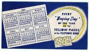 1947, YELLOW PAGES BLOTTER