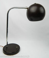 Mid Century Modern Walter Von Nessen Eyeball Table Lamp Brown Needs Switch