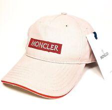 MONCLER Mens Womens Pink Red Spellout Logo Adjustable Strap Cap Hat (MSRP $245)