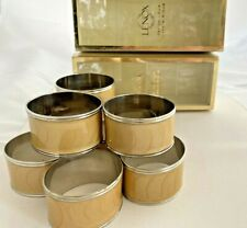 Lenox Laurel Leaf Gold Napkin Rings/Holders Lot of 2 Sets- 8 Rings