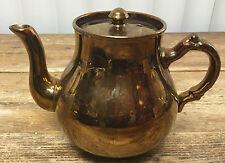 Copper Luster Teapot Tea Pot Gibson & Sons Lustre Vintage A534 English England