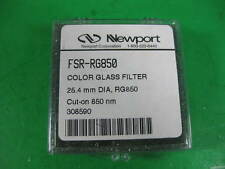 Newport Corporation Color Glass Filter 25.4mm Dia RG850 850nm - FSR-RG850 - Used