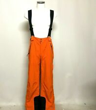 Trespass Salopettes Ski Trousers Size L W36-38 Orange Black Snow Gear 290574