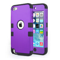 iPod Touch 5 5th Generation Armor Hybrid Defender Hard Soft Case-Purple