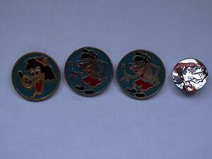lot vintage pin badges cartoon character Nu Pogodi Ну Погоди 4 pcs MADE IN USSR