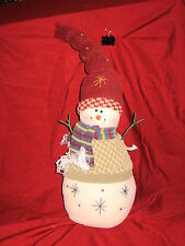 Stuffed 14 inch Snowman with Wood Stick Arms