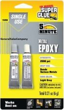 METAL EPOXY - SUPER GLUE 5 Minute Stainless Steel Copper Aluminum New In Package