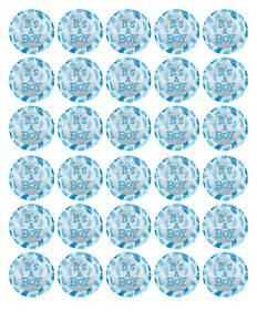 30 BABY SHOWER ITS A BOY EDIBLE WAFER/FONDANT PAPER CUP CAKE FAIRY BUN TOPPERS