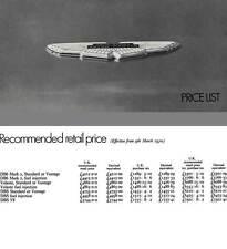 Aston Martin 1970 - David Brown Aston Martin Price List