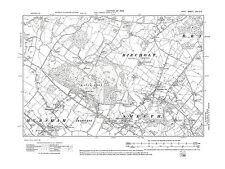 Smeeth, Mersham, Brabourne Lees, W. Brabourne, Kent 1908 - repro old map 65-SE