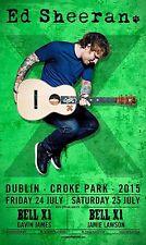 ED SHEERAN /BELL X1/GAVIN JAMES/JAMES LAWSON 2015 DUBLIN CONCERT TOUR POSTER-Pop