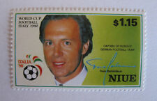 NIUE - ITALIA '90 Captain Of Honour German Football Team Franz Beckenbauer $1,15