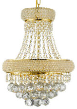 FRENCH EMPIRE CRYSTAL CHANDELIER LIGHTING FIXTURE PENDANT CEILING LAMP GOLD