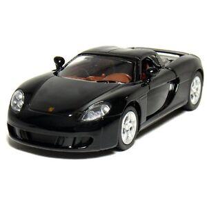 "Brand New 5"" Kinsmart Porsche Carrera GT Diecast Model Toy 1:36 Black"