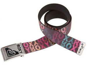Roxy Muti Coloured Webbing Belt - Brand New Secret Spot Text Womens Girls