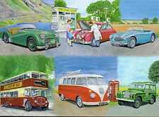 Classic AUTOMOBILISMO TRIUMPH TR2 JAGUAR MK2 Austin Healey 3000 Happy Birthday Card