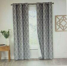 Eclipse Leland Ogee Grommet Window Curtain Panels 2Pk Gray 80 x 95 New