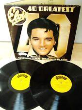 Elvis Presley 40 Greatest Hits UK 2 x LP Love Me Tender Hound Dog 1975 VG