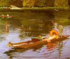Lavery Sir John Boating On The Thames A4 Print