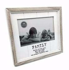 White Wooden Vintage Style Family Photo Frame With Sentiments HZD124 HS