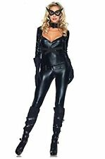 5 PIECE CATWOMAN STYLE CAT SEXY FAUX LEATHER COSTUME SIZE 6-8 BODYSUIT