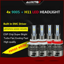 4X H11+ 9005 LED Headlight Kit High Low Beam Lamp CSP 6500K White Bulbs Lights