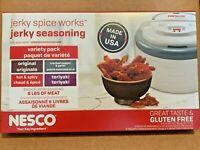 Nesco Brand Beef Jerky Seasoning Spice Cure Makes 24 Pounds, VARIETY PACK!