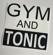 Gym & Tonic Vinyl decal Sticker For Water Bottle Ladies Men's sports Running DIY