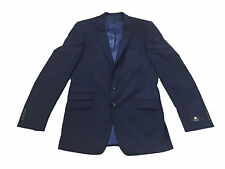 "Marks & Spencer Mens Autograph Suit Jacket Pure Wool Slim Fit 40"" Long M&S Blue"