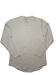 BYLT Lux Drop Cut Long Sleeve Henley sz M Medium