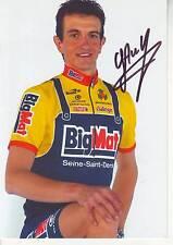 CYCLISME carte cycliste GUILLAUME AUGER équipe BIG MAT AUBER 93  signée