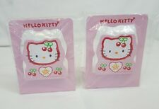 RARE Vtg 1998 Sanrio HELLO KITTY Pink CHERRY Metal BOOKENDS Set of 2 Japan NEW