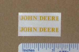 JOHN DEERE Decal Set for 1/16 A & 60 Tractors & Implements, Computer Cut