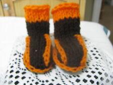 Infant Baby Booties (Orange & Brown) ~ Browns ~ **Gift Idea