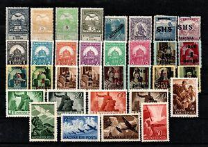 Ungarn Lot mit 33 verschiedene Postfrisch teils Falz siehe Foto  H 041