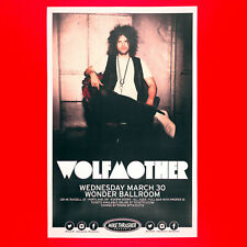 Wolfmother 2016 Original 11x17 Concert Poster + photo. Portland Oregon