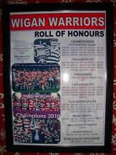More details for wigan warriors club history roll of honours - framed print