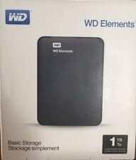 Disco duro externo portátil WD Elements 1 Tera